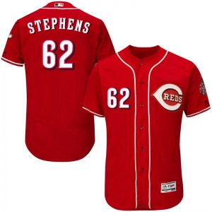 Jackson Stephens Cincinnati Reds Authentic Flex Base Alternate Collection Majestic Jersey - Red