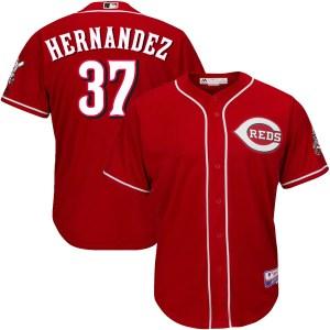 David Hernandez Cincinnati Reds Replica Cool Base Alternate Majestic Jersey - Red