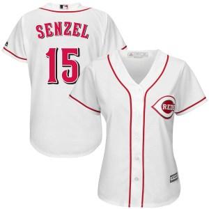 Nick Senzel Cincinnati Reds Women's Replica Cool Base Home Majestic Jersey - White