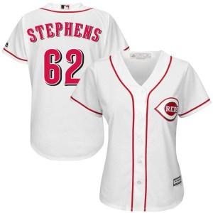 Jackson Stephens Cincinnati Reds Women's Replica Cool Base Home Majestic Jersey - White
